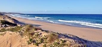 Inhambane kustlinje Mocambique Royaltyfri Bild
