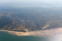 Inhambane Province Aerial View - Mozambique. Aerial view of the coast of Inhambane Province in Mozambique Royalty Free Stock Image