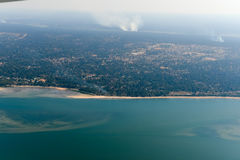 Inhambane Province Aerial View - Mozambique. Aerial view of the coast of Inhambane Province in Mozambique Royalty Free Stock Photography
