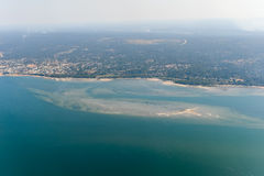 Inhambane Province Aerial View - Mozambique. Aerial view of the coast of Inhambane Province in Mozambique Royalty Free Stock Images