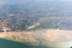 Inhambane Province Aerial View - Mozambique. Aerial view of the coast of Inhambane Province in Mozambique Stock Images