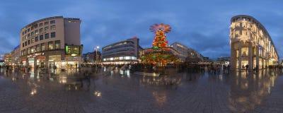 InHannover de la iluminación de la Navidad Imagen de archivo