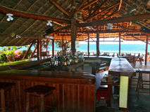 Inhassoro, Mozambique - December 9, 2008:  a Bar on the coast of Stock Photography