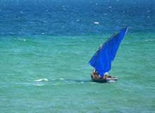 Inhassoro, Mozambique - December 9, 2008: Sailing boat floating Royalty Free Stock Image