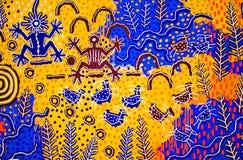 Inheems Amerikaans Art. royalty-vrije stock foto