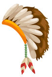 Inheems Amerikaans hoofddeksel royalty-vrije illustratie