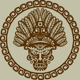 Inheems Amerikaans masker vector illustratie