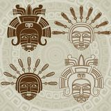 Inheems Amerikaans masker Stock Afbeelding