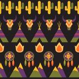Inheems Amerikaans naadloos patroon vector illustratie