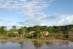 Inheems Dorp - Amazonië Royalty-vrije Stock Afbeelding