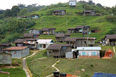 Inheems Dorp van Maleisië stock afbeeldingen