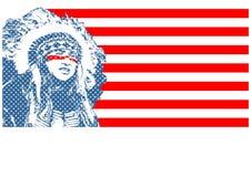 Inheems-embleem vector illustratie