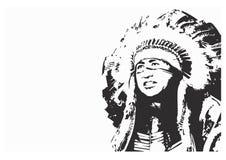 Inheems Indiër-embleem Stock Foto