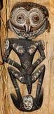 Inheems masker Papoea-Nieuw-Guinea Stock Foto's