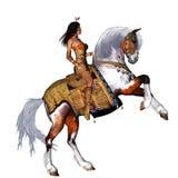 Inheems meisje vector illustratie