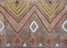 Inheems muurpatroon van Zuid-Afrika stock afbeelding
