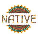 Inheems ontwerpwoord met ornament royalty-vrije illustratie