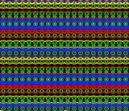Inheems Patroon in Heldere Kleuren Royalty-vrije Stock Afbeeldingen