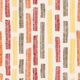 Inheems vector naadloos patroon met inbegrip van enthnic multicolored bladeren als achtergrond of textuur royalty-vrije stock afbeelding