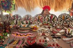 Inheemse Amerikaan van de Stam van Embera Tusipono, Panama Stock Afbeelding