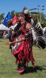 Inheemse Amerikaanse Danser bij a pow-wauw stock afbeelding