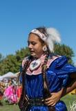 Inheemse Amerikaanse Danser bij a pow-wauw royalty-vrije stock afbeelding
