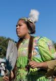 Inheemse Amerikaanse Danser bij a pow-wauw stock foto