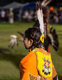 Inheemse Amerikaanse Danser bij a pow-wauw royalty-vrije stock fotografie