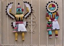 Inheemse Amerikaanse geïnspireerde Kunst in Santa Fe New Mexico de V.S. Stock Foto's