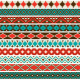 Inheemse Amerikaanse Grenspatronen vector illustratie
