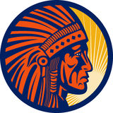 Inheemse Amerikaanse Indische leider Stock Afbeelding