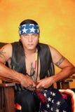 Inheemse Amerikaanse mens Stock Afbeeldingen