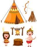 Inheemse Amerikaanse reeks Royalty-vrije Stock Afbeelding