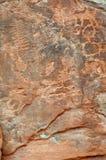 Inheemse Amerikaanse rotstekening op canionmuur Stock Afbeelding