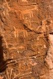 Inheemse Amerikaanse rotstekeningen Stock Afbeelding