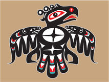 Inheemse Amerikaanse Stijl Thunderbird royalty-vrije illustratie
