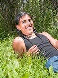Inheemse Amerikaanse tiener Royalty-vrije Stock Foto