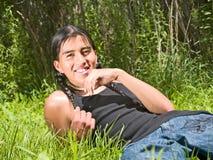 Inheemse Amerikaanse tiener Royalty-vrije Stock Fotografie