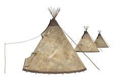 Inheemse Amerikaanse Tipi stock illustratie