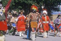 Inheemse Amerikanen die de Dans van het Graan bijwonen royalty-vrije stock foto