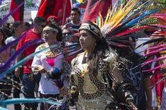 Inheemse Amerikanen verzamelen zich om Donald Trump te protesteren Royalty-vrije Stock Foto's