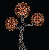 Inheemse Boomillustratie Het vector schilderen Royalty-vrije Stock Afbeelding
