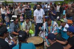 Inheemse dag levende viering in Winnipeg Stock Afbeeldingen