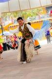 Inheemse dansers van Ecuador stock foto