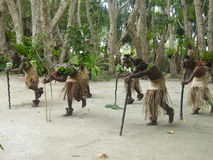 Inheemse dansers in Vanuatu Royalty-vrije Stock Foto