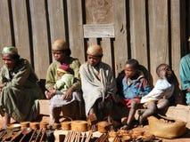 Inheemse dorpsmensen Van Madagascar Stock Afbeeldingen