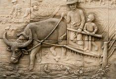 Inheemse het vormen kunst op muur Stock Afbeelding