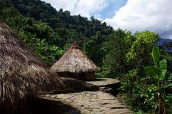 Inheemse Huizen Stock Foto