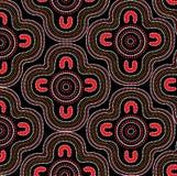 Inheemse kunst vectorachtergrond Stock Foto's