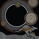 Inheemse kunst vectorachtergrond Royalty-vrije Stock Foto